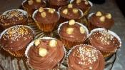 Chocolademuffins met Nutella en hazelnoten