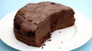 Aangesneden chocoladetaart uit de Allerhande