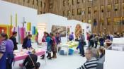 140 deelnemende taarten op de halve finale van de HEMA taartbakwedstrijd in Amsterdam