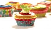 Vanilla-peach cupcakes