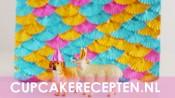 Paneel met gekleurde cupcakevormpjes