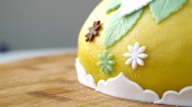 Paastaart met frisse mandarijntjesvulling