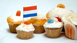 Oranjecupcakes met botercremetopping