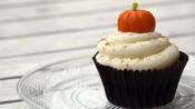 Halloweencupcakes met pompoen