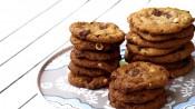 Chocolate chip cookies met hazelnoot