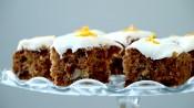 Wortelcake met walnoten en sinaasappel