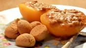 gevulde perziken met amaretto