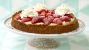 Aardbeienslof in taartvorm
