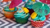 Strandtaart en -cupcakes