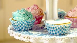 Geboortecupcakes voor jongetje en meisje